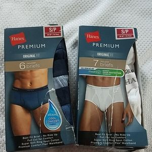 NWT Hanes premium original fit tagless men's brief